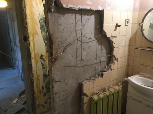Połączenie łazienki Z Wc W Bloku Z Przebudowy I Remonty