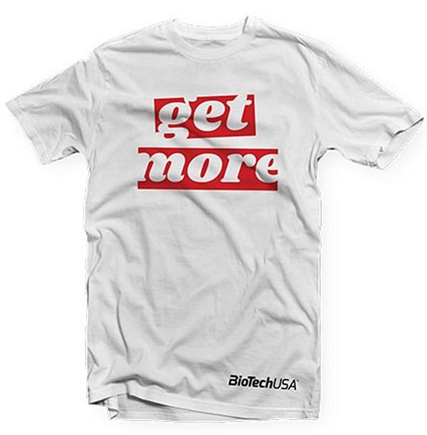 BIOTECH USA T-SHIRT GET MORE MEN/'S WHITE T-SHIRTS ALL SIZE FREE SHIPPING !