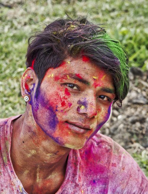 Święto Holi, Nepal www.czterykranceswiata.com