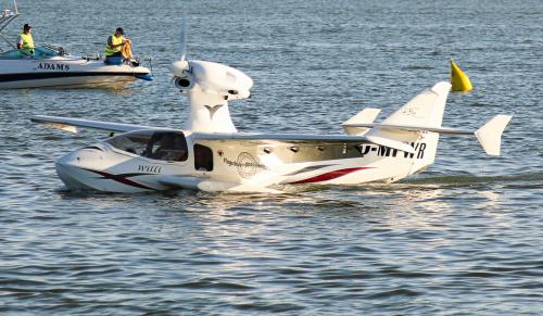 Lotniczy wieloryb - Flywhale i jednocześnie pierwsza wizyta tego samolotu w Polsce, jak i jeden z kilku okazów na Świecie.