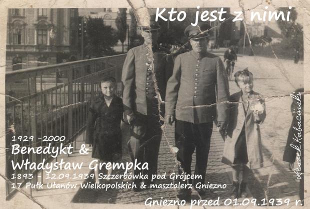 Osoby towarzyszące do rozpoznania.Gniezno przed 01.09.1939 r. Masztalerze z Gniezna. Ktojest z Władysławem Grempką. #Gniezno #Ułani #masztalerze