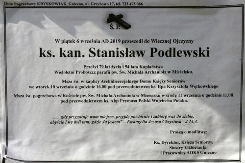 ks. kan. Stanisław Podlewski_klepsydra