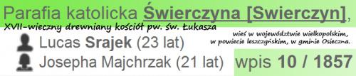 Łukasz Srajek &Józefa Majchrzak