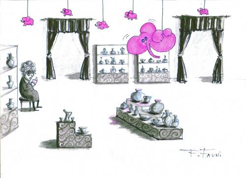 Muzeum Porcelany : inwazja słoni