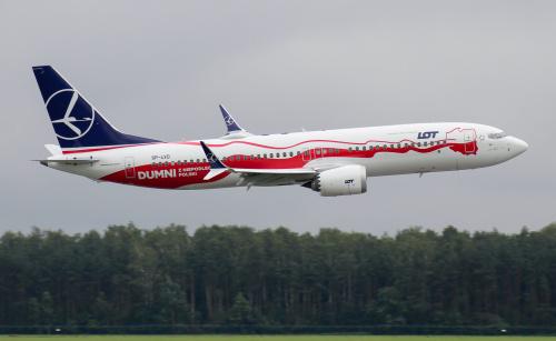 Low-pass Boeinga 737 MAX w trakcie pokazów w Radomiu