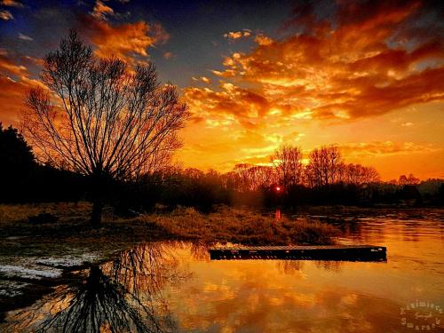 ,,,w Przywozie nad Wartą - zachód słońca