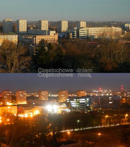 Dwa rzuty dwojgiem oczu na dwa obrazy miasta