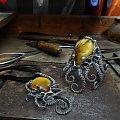 Ośmiornica komplet biżuterii z bursztynem - silverum.com.pl #rękodzieło , #producent #sklep, #internetowy, #biżuteria, #unikatowa, #bursztyn #naturalny #bałtycki #komplet #artystyczna #imieniny #ośmiornica #prezent #srebro #bursztyn #upominek