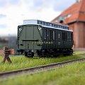 Model wagonu pocztoowego P.K.P. w skali 1:87. Stacja Wilno. Epoka II #PKP #wagon #towarowy H0