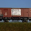 Model wagonu towarowego krytego P.K.P z reklamą fabryki czekolady A.Piasecki KRAKÓW. Skala 1:87 H0. Epoka II. Konwersja rocketman. #PKP #wagon #towarowy H0