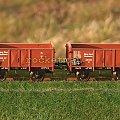 Skład wagonów towarowych wspólnego parku wagonowego Górny Śląsk. w skali 1:87. Epoka II #PKP #wagon #towarowy H0