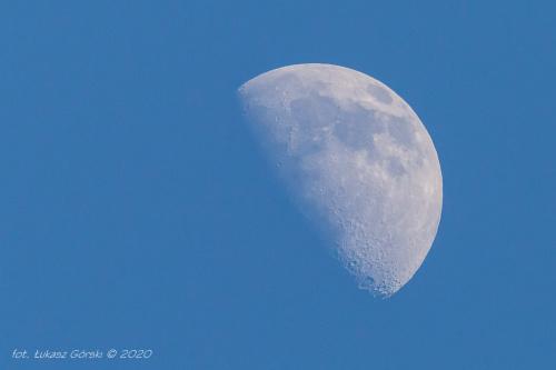 1 majowy księżyc #księżyc #kwadra #astrofoto #Chojnice