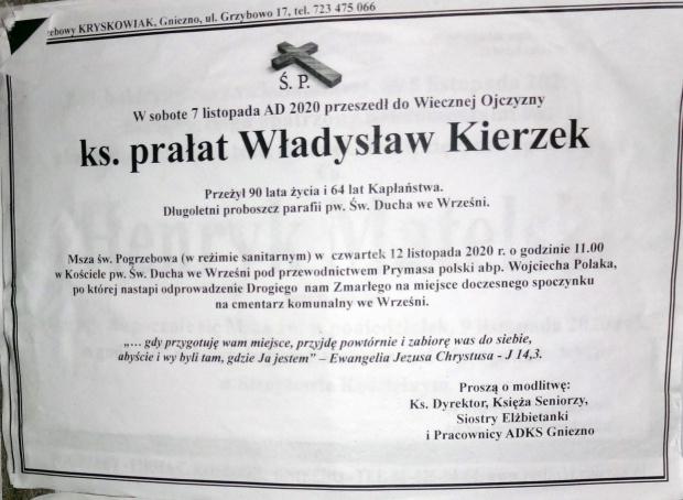 Klepsydra ks. prałat Władysław Kierzek