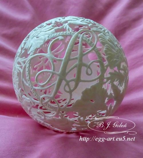 #strusie#jajko #rzeźbione #prezent #alicji#ażurowe