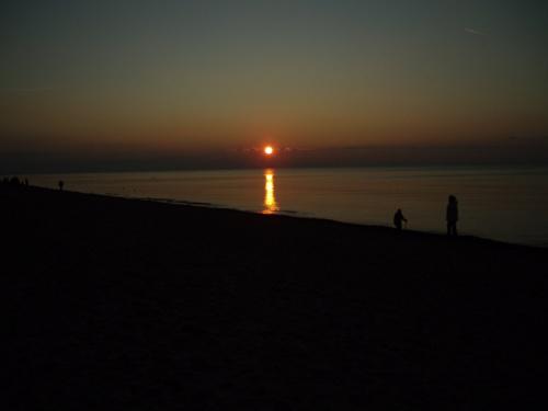 Zachód słońca nad Bałtykiem_Dąbki koło Koszalina