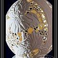 #rzeźbione jajko #irys #rzeźbionejajkostrusie #ażurowejajo #eggart #goleń #carving #prezent