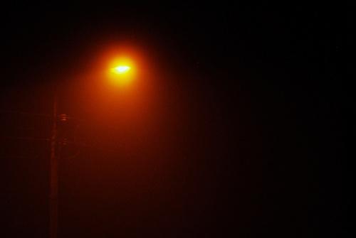 lampa nie daje rady; mgła....