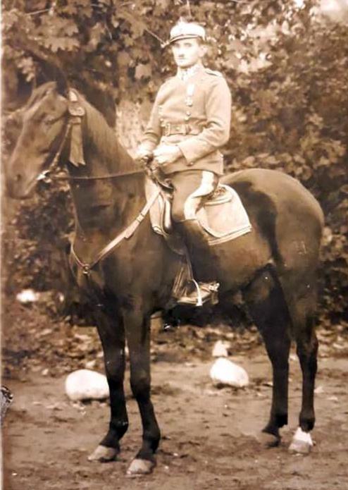 Jan Góralczyk na koniu ,Władysław Wlekliński